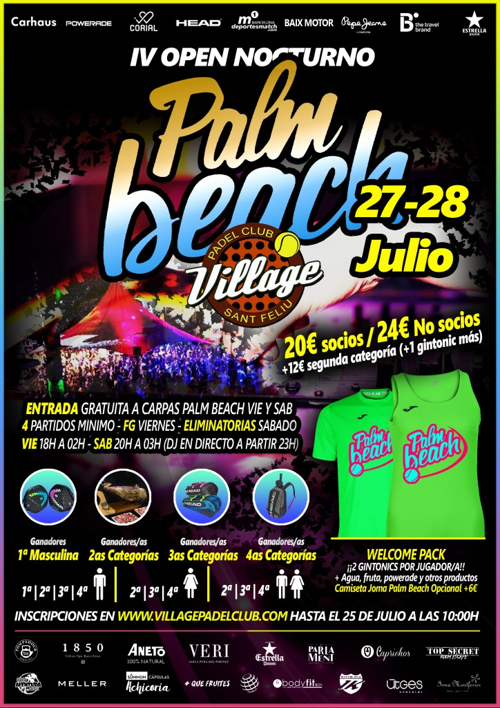 CARTEL IV OPEN NOCTURNO PALM BEACH BUENO
